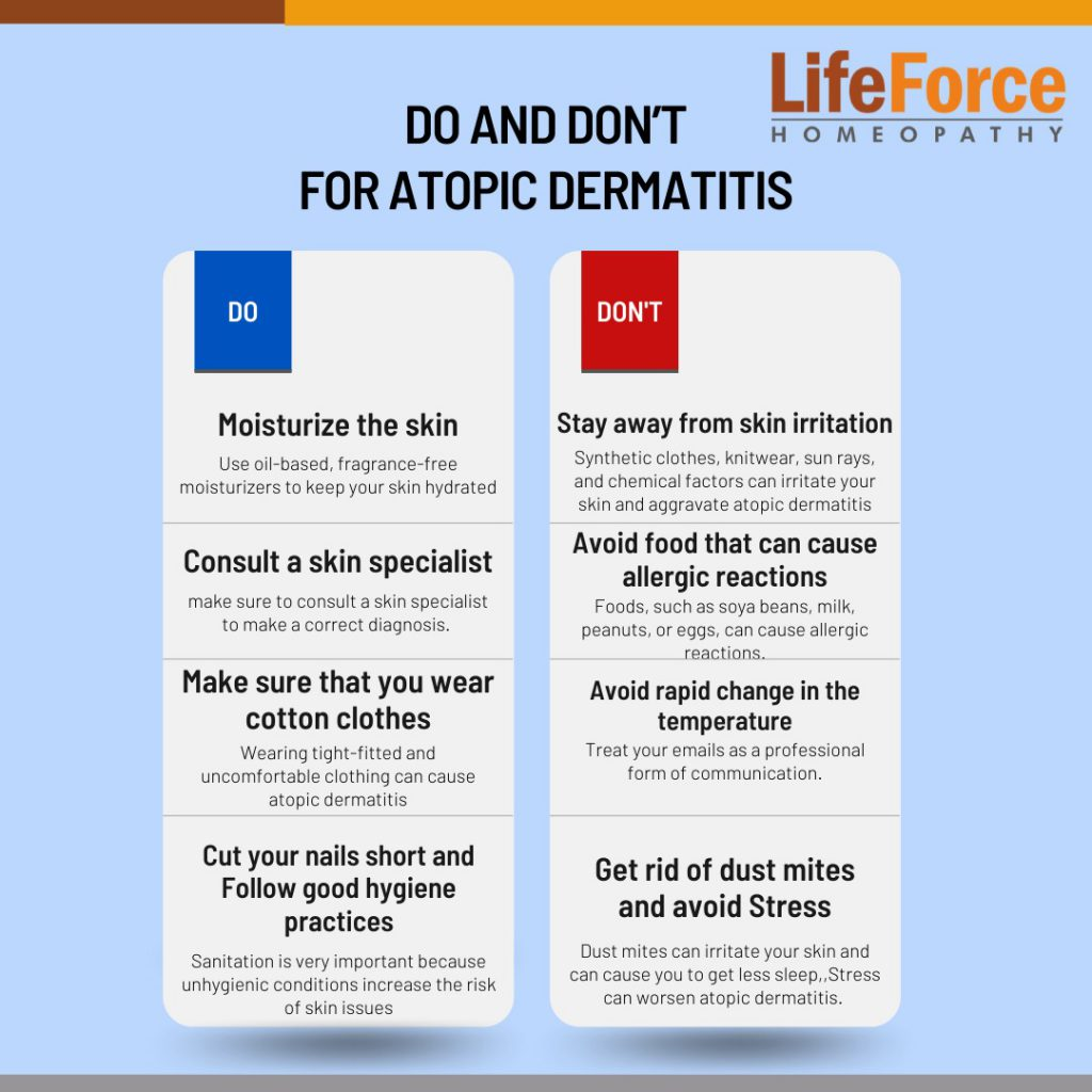 Dos And Don'ts To Follow For Atopic Dermatitis