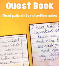 Guest Book: Read patient reviews