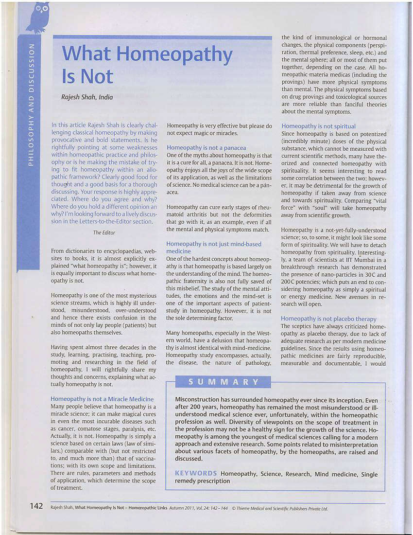 What Homeopathy Is Not, by Dr Rajesh Shah Page-2